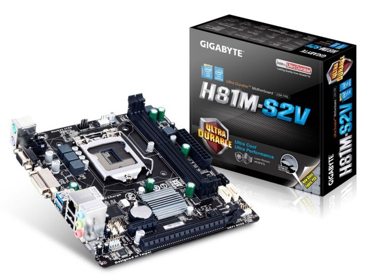 Gigabyte H81M-S2V s1150 H81 2DDR3 GLAN/USB3/8CH