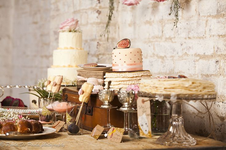 "Pastel cakes from French Made. Photo credit: Paola de Paola.  For more Alternative Wedding inspiration, check out the No Ordinary Wedding article ""20 Quirky Alternatives to the Traditional Wedding""  http://www.noordinarywedding.com/inspiration/20-quirky-alternatives-traditional-wedding-part-2"