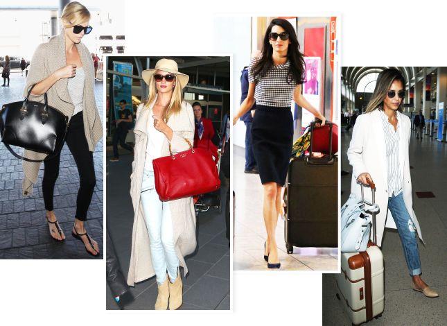 Как одеться в аэропорт: 50 фотографий знаменитостей