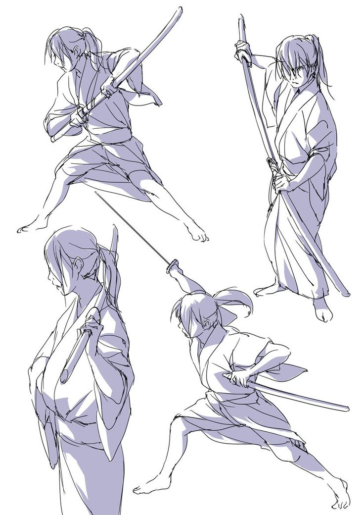 Samurai poses | How to draw ω | Pinterest | Samurai, Pose ...