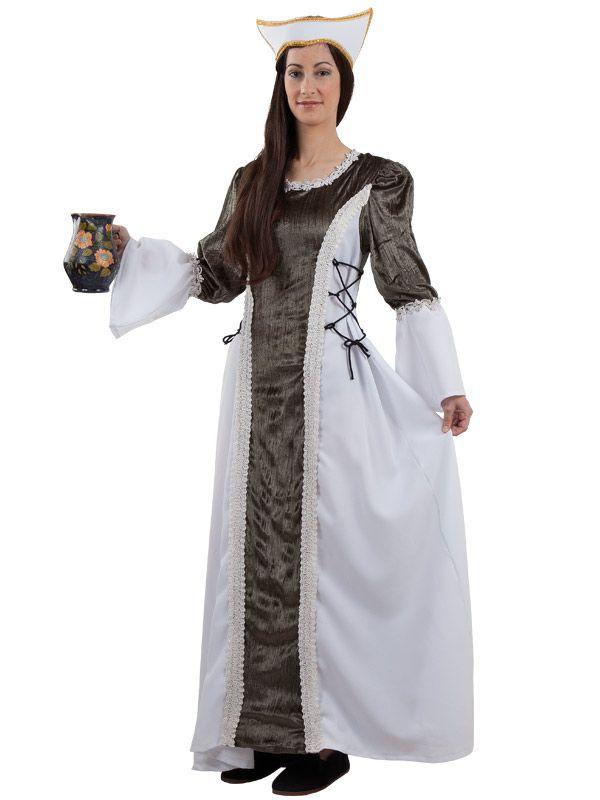 El disfraz de dama medieval isabel mujer incluye tocado y for Disfraces de epoca