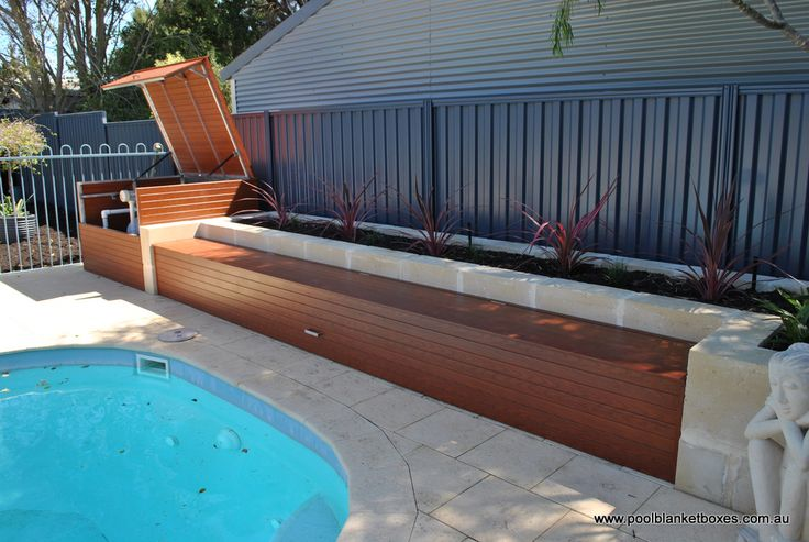 Blanket Boxes | Pool Blanket Boxes Australia. This is kind of how I want the garden beds, although I want them on both sides.