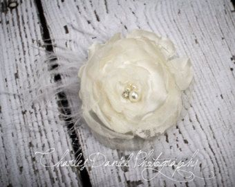The Penelope Flower Girl Headband Vintage by DLilesCollection