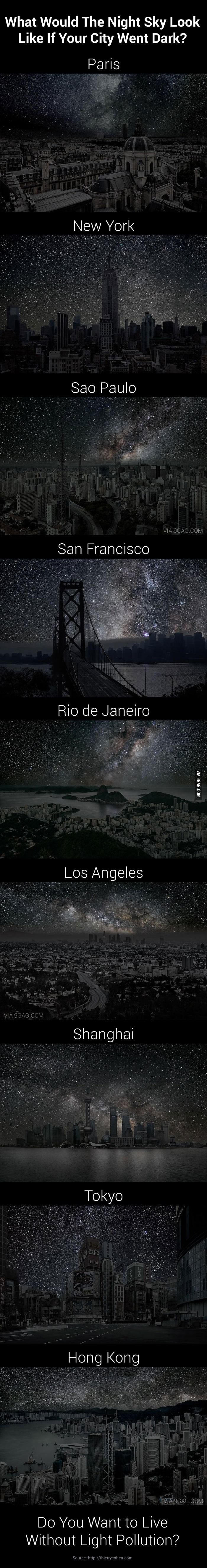 9 Amazing Night Sky of 9 Darkened Cities. Or you can just go outside the big cities