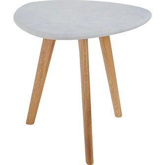 Zijlstra White Stone Side Table
