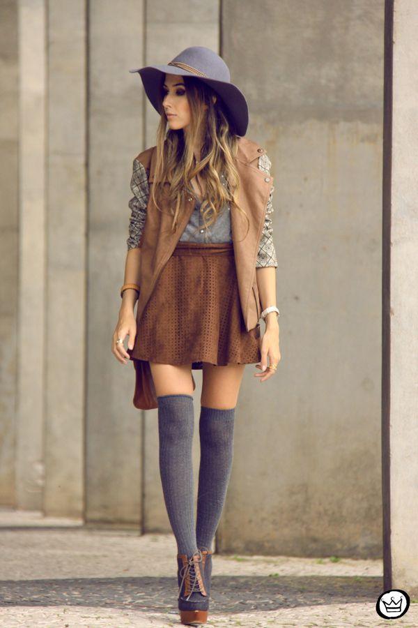 Stylish Inspirational Fall Fashion Combinations With Skirts