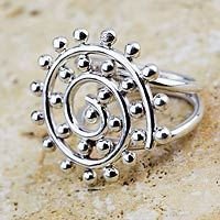 Sterling silver cocktail ring, 'Maize Blossom' by NOVICA
