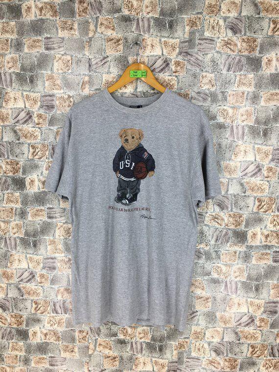 Vintage 90/'s retro logo print sports polo t-shirt tee top