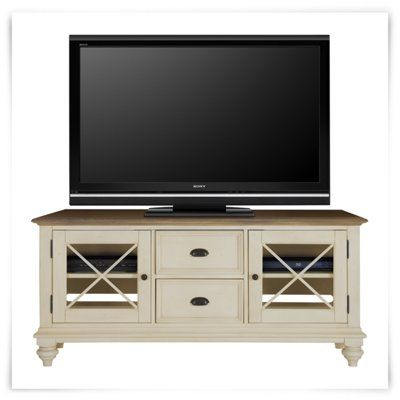 """Riverside - Coventry Two-Tone 60"""" TV Stand"""