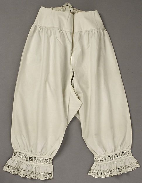 Drawers Date: 1840s Culture: American or European Medium: cotton