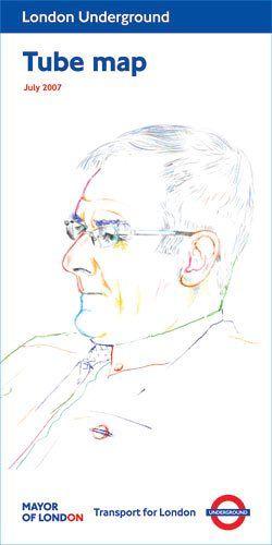 Tube map art: Jeremy Deller, Portrait of John Hough, July 2007