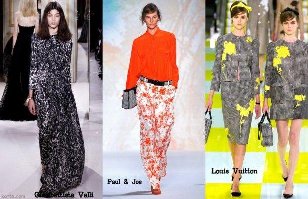 Модные принты лето 2013. Обзор самых ярких тенденций