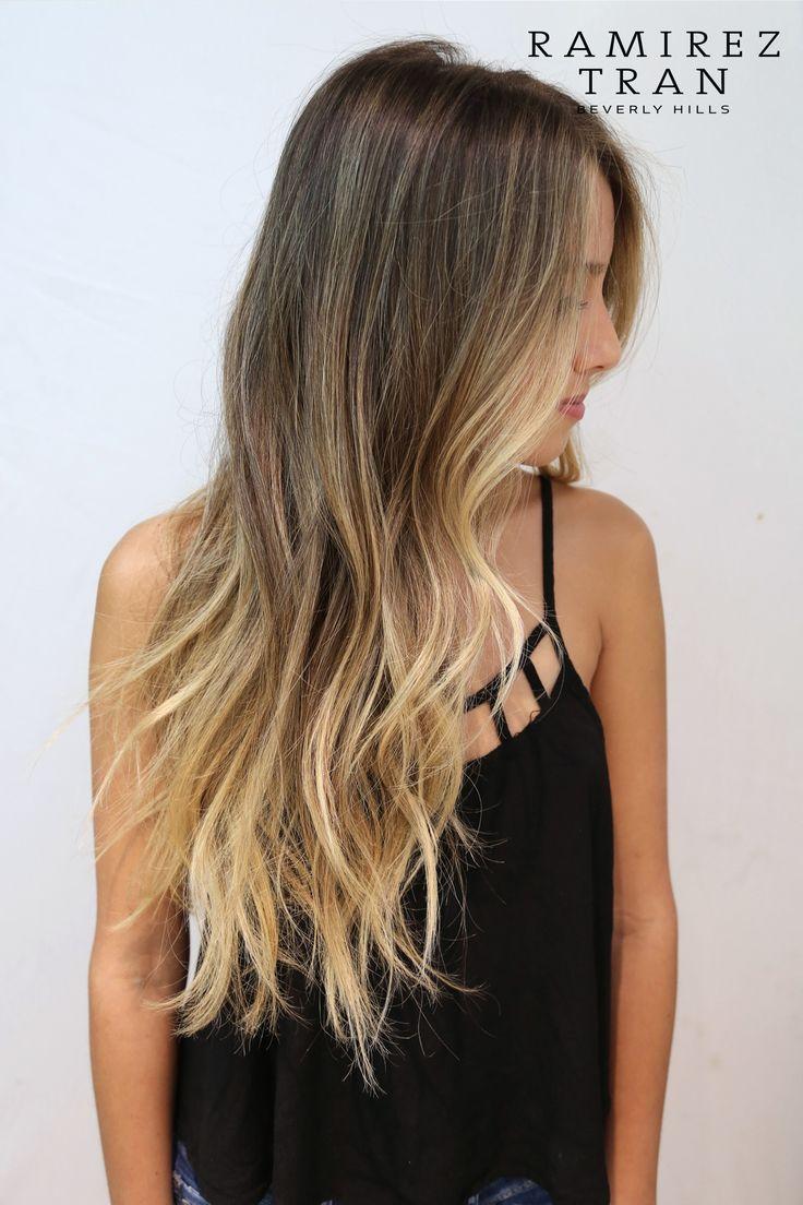 окрашивание волос в более светлый тон