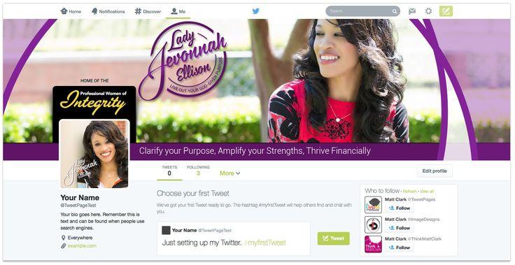 Lady Jevonnah Ellison Twitter Design - by TweetPages.com #TweetPages
