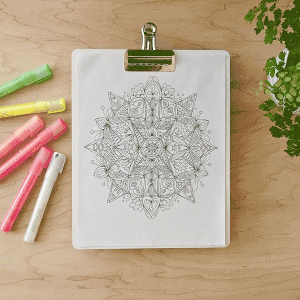 [On the Blog] Mindfulness and Drawing Mandalas + Totally Tiffany Giveaway