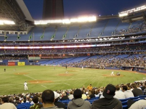 The Jays playing at the Rogers Centre #Toronto