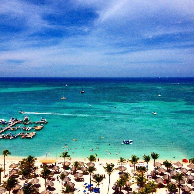 Beautiful View at Marriott's Aruba Surf Club #Aruba #travel
