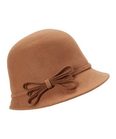 55bed388b28 Loving this Taupe Wool Flower-Accent Cloche on  zulily!  zulilyfinds ...