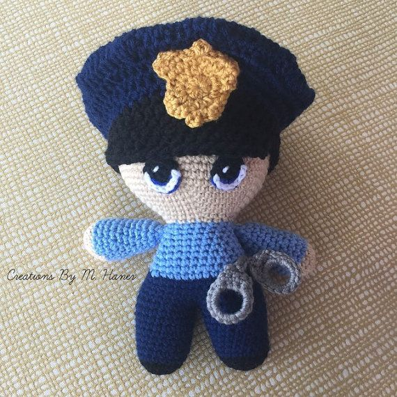 Police Officer Doll Made to Order by CreationsByMHaner on Etsy