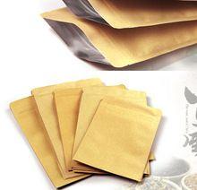 TAMAÑO: 13*18.5 cm de la Cremallera/zip lock bolsa de papel Kraft, papel de aluminio kraft bolsa de papel para regalo/café/té/C/bolsa de papel kraft marrón(China (Mainland))
