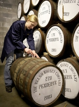 Penderyn Distillery, Frongoch near Bala North Wales - The distillery is the only one in Wales and the first to legally distil a whisky spirit in the country for more than 100 years.