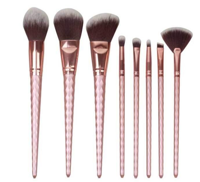 readystock makeup brushes set rose golden color for cosmetics. any interested contact alicesdsd@aliyun.com or 86-13424200883(WhatsApp)