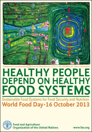 October 16, 2013 is World Food Day. Go to www.healthaware.org for link to more information.
