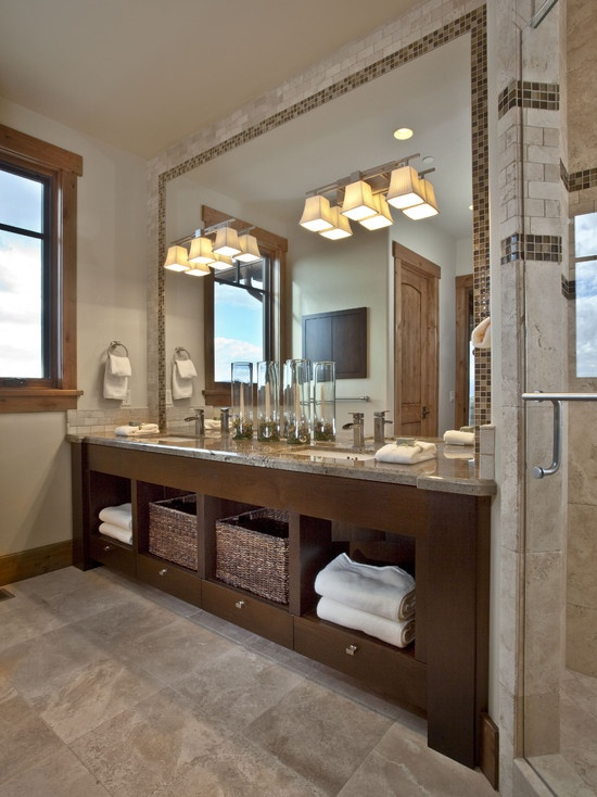 Love how this bathroom mirror spans the full length of the wall and from  counter toThe 25  best City style full length mirrors ideas on Pinterest  . Install Mirror Bedroom Ceiling. Home Design Ideas