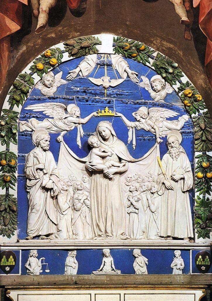 Atlante dell'arte italiana Ареццо. Della Robbia Andrea. Madonna della Misericordia, c. 1490