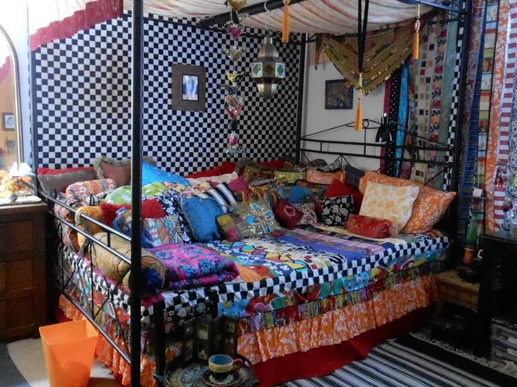 263 best bohemian furniture and decorations images on for Bohemian style daybed