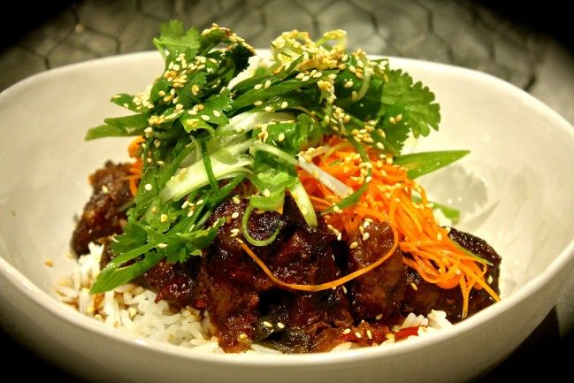 Korean Slow Braised Beef with Carrot Pickle