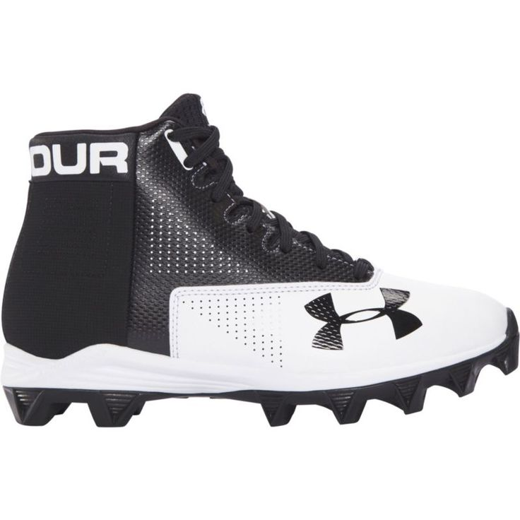 Under Armour Kids' Renegade Mid RM Wide Football Cleats, Black
