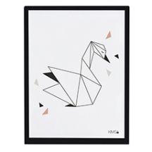 Lámina +  marco cisne origami