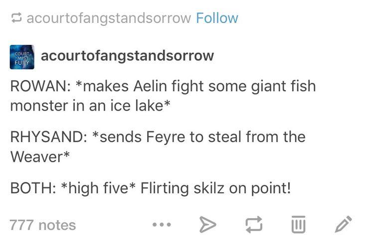 Rowan and Rhysand's flirting skilz