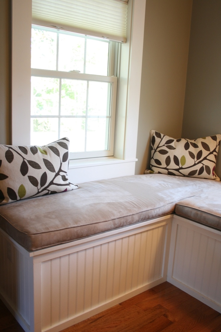 Custom Window Seat And Upholstered Cushions For Master