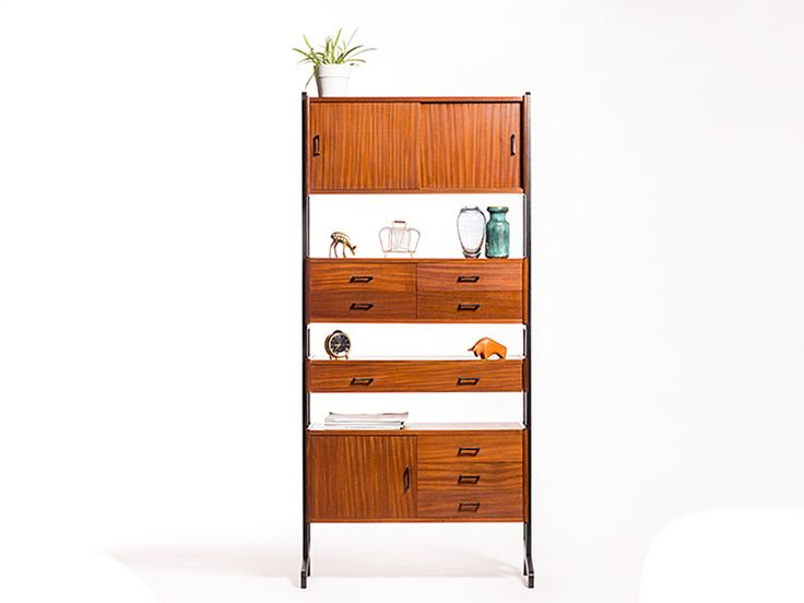 Vintage Simpla Lux storage wall system | Vintage Furniture Base