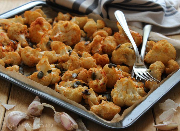 Cavolfiore+arrosto+alla+paprika+e+semi+di+zucca