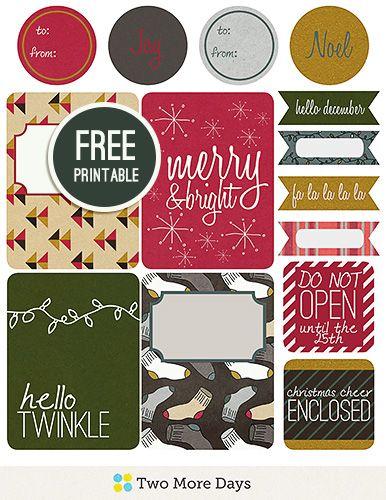 Adventual Free Printable Gift Tags