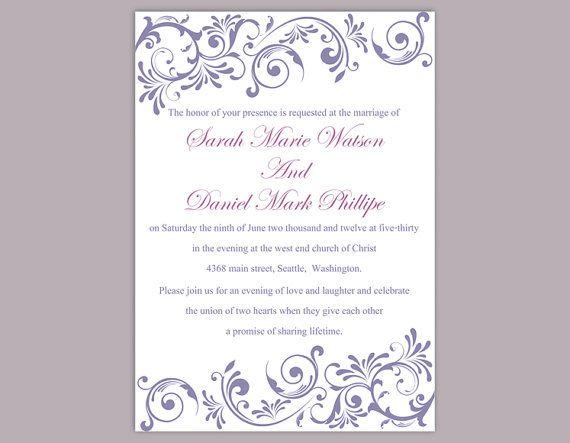 The 25+ best Diy wedding invitations templates ideas on Pinterest - invitations templates