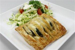 Butterdejspakker med laks/ørred og spinat 4