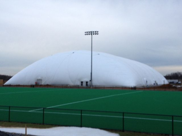 Woah!  A full-field around the dome for the cold winters in PA! #gousa #usafh The new dome at Spooky Nook Sports 70% inflated!