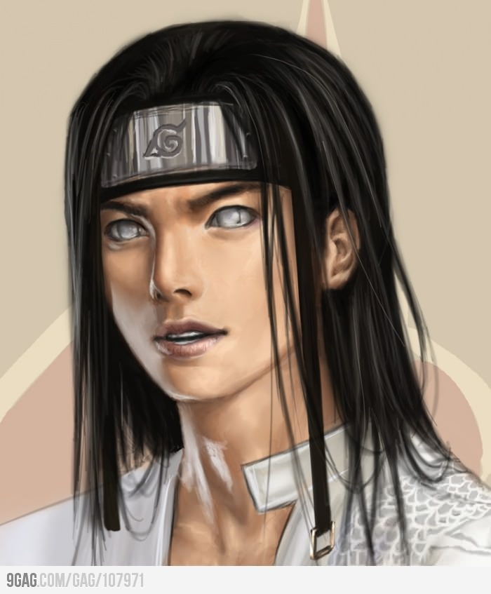 realistic drawing of Neji