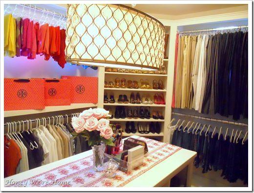 Dream closet!: Lights Fixtures, Dreams Closet, Closet Envy, Tory Burch, Closet Design, Master Closet, Modern Closet, Honey We R
