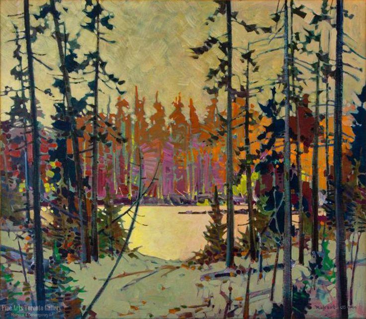 """Caribou Lake by Robert Genn. Oil on canvas (30""""x34"""")."""