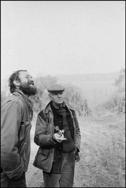 Ferdinando Scianna - Josef Koudelka and HCB. Near Paris. 1980.