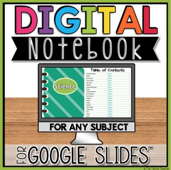 "This open-ended digital notebook can be completed in Google Slides™️ for ANY subject. Everything is editable.A table of contents page already has pre-loaded links for the ""page numbers"" that will take students to the correct slide. They simply type in the topic and click on the link to take them to the correct slide template. 20 slides for 20 topics. Each slide contains directions in the speaker notes."