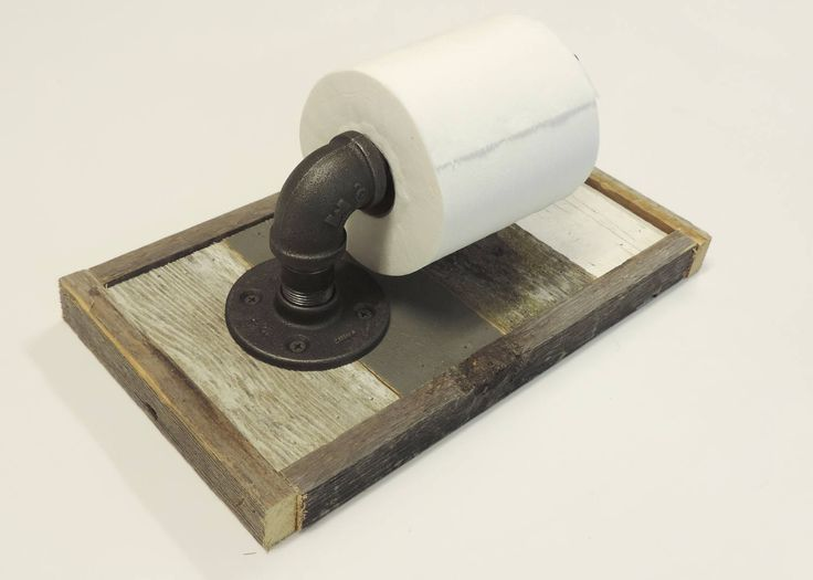 Rustic Reclaimed Wood Toilet Paper Holder by ABWframes on Etsy