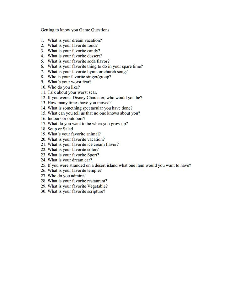 fun questions to ask girl
