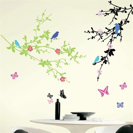 Cherry Blossom Peel And Stick Wall Art   Products   SNAP Large   SNAP1005  Snap Part 21