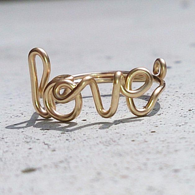 Ringe - LOVE - Wickel Ihn um den Finger! 14K Goldring - ein Designerstück von KIZZU bei DaWanda